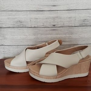 Clarks Collection Shoes Heels Wedges sz 6